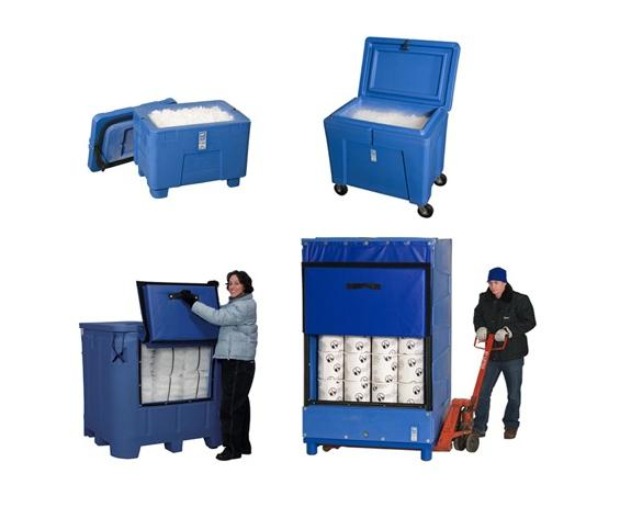 Bulk Insulated Dry Ice Containers